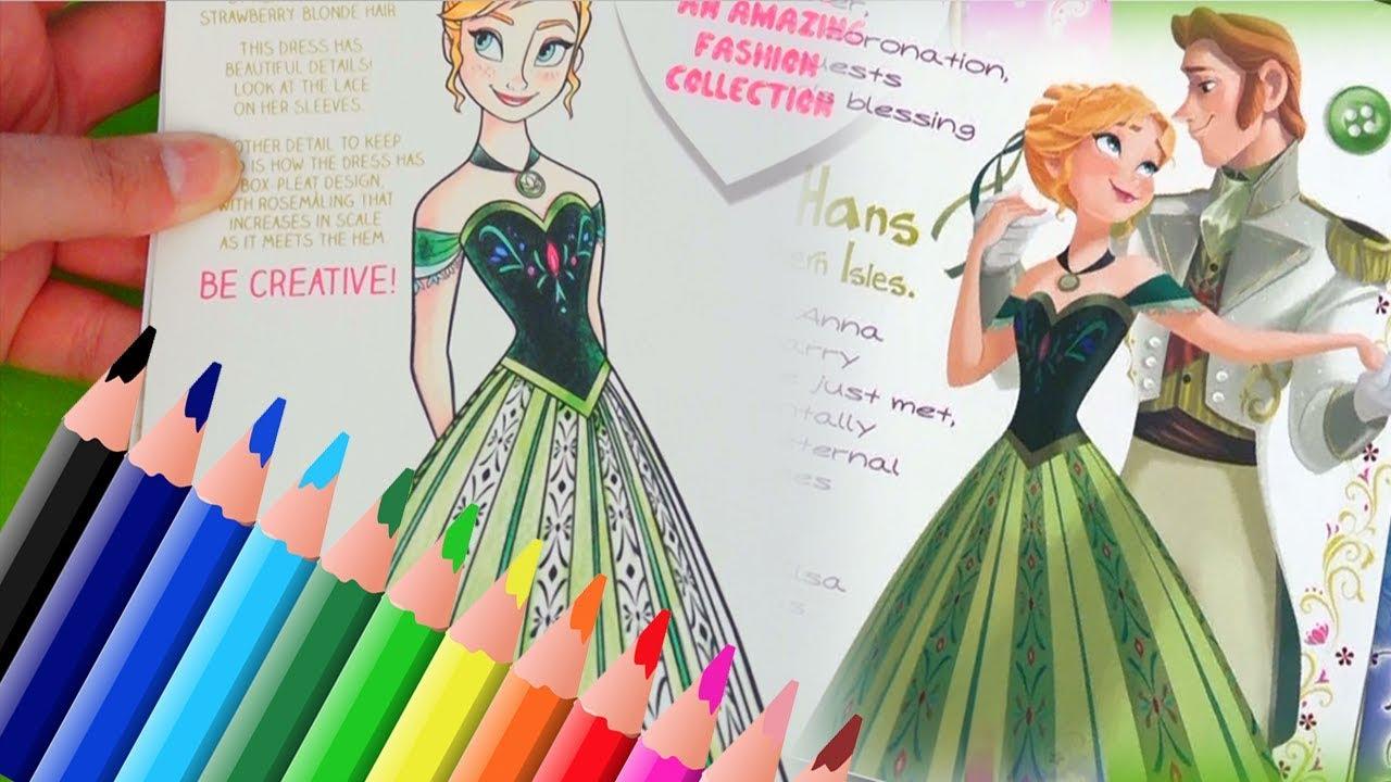 Libreta para dibujar vestidos de Anna - Juguetes con Andre - YouTube