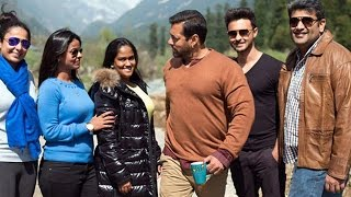 Salman Khan, Arpita Khan, Aayush Sharma In Kashmir