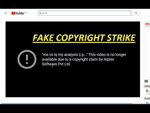 i got fake copyright strike from aiplex software ||fake copyright strike😡😡😡😡😡😡😡😡