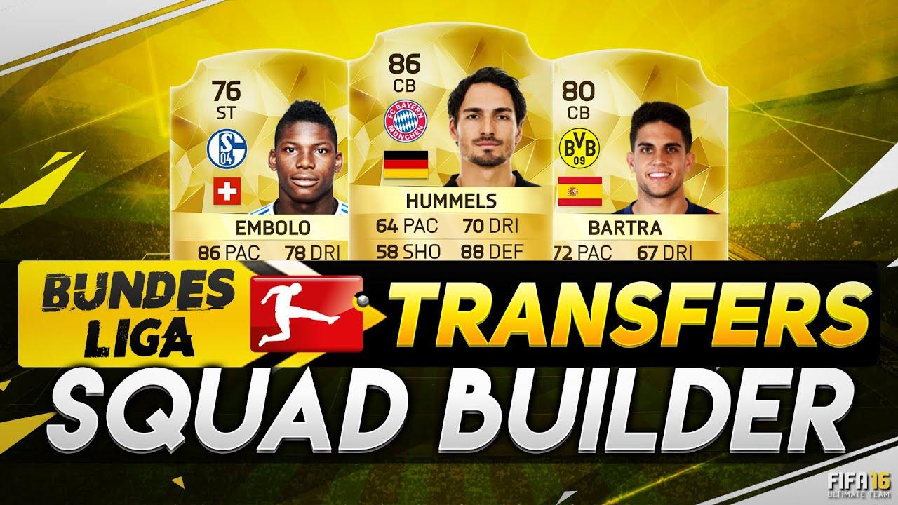 Bundesliga Transfers 16 17