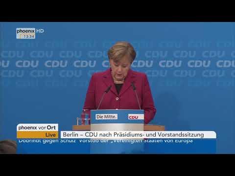 Pressekonferenz der CDU mit Angela Merkel nach Präsidiums- und Vorstandssitzung vom 11.12.2017