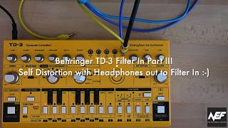 Behringer TD-3 (Yellow Limited Edition) Filter In Part III - Distortion/Overdrive from Phones Jack