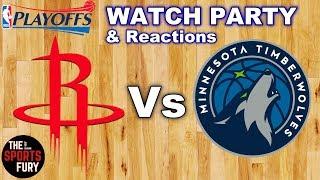 Rockets Vs Timberwolves Game 4 Watch Party   NBA Playoffs 2018