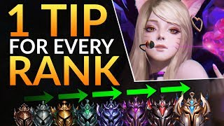 1 SECRET TIP for EVERY Rank | Midlane Tricks to Rank up FAST - League of Legends Challenger Guide