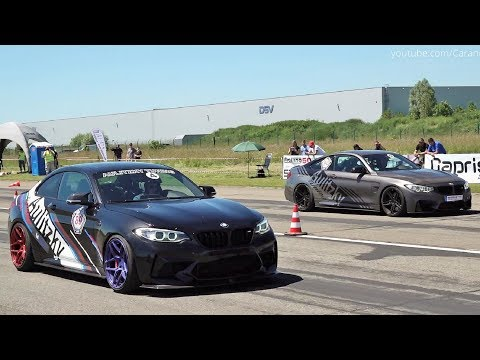 BMW M2 vs BMW M4 - Roll Race And Exhaust Sound