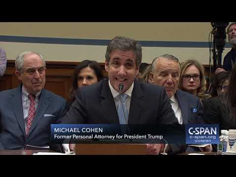 Michael Cohen Complete Opening Statement (C-SPAN)