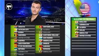 Eurovision Fan Contest - Sassenberg Winter 2015: Semi-Final 2 Qualifiers