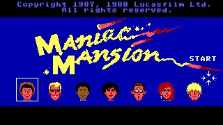 "Maniac Mansion (PC/DOS) Longplay ""Enhanced Version"" 1989 Lucasfilm Games"