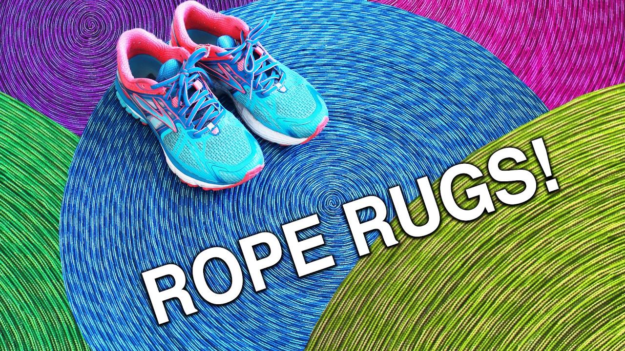 Shoe Rug Easy Rope Rugs Youtube