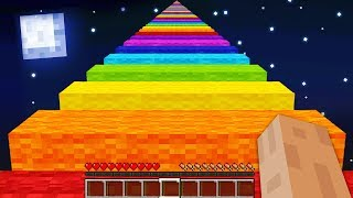 WORLDS LONGEST MINECRAFT RAINBOW ROAD! (5,000+ BLOCKS!)