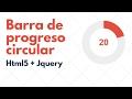Progress bar - Barra de progreso circular con Html5 y Jquery