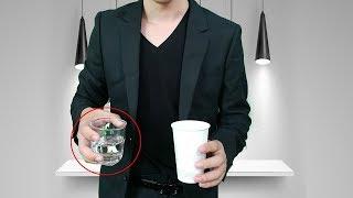 魔术教学,杯子中的水消失的魔术揭秘,机关是这样