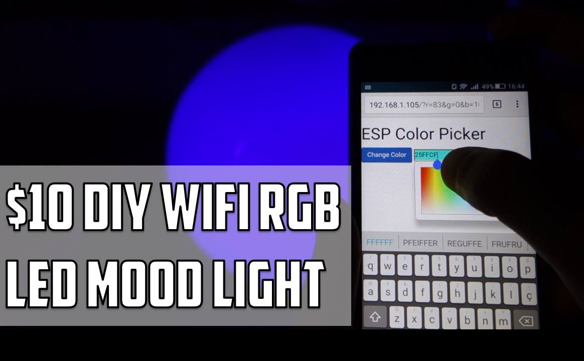 DIY WiFi RGB LED Mood Light ESP8266 | Random Nerd Tutorials
