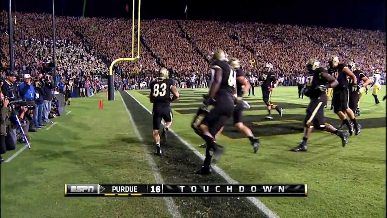 2013 Big Ten Men's Football Notre Dame at Purdue - YouTube