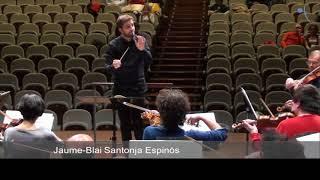 Jaume Santonja - Rehearsing Mozart Symphony 41 'Jupiter'