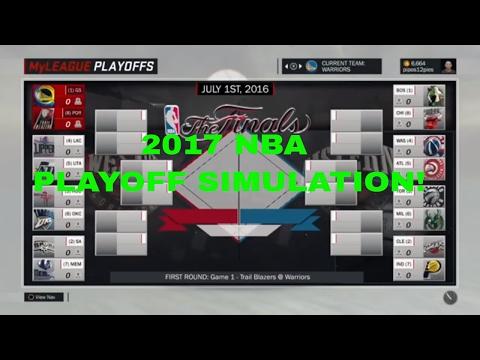 2017 NBA PLAYOFF SIMULATION AND PREDICTIONS