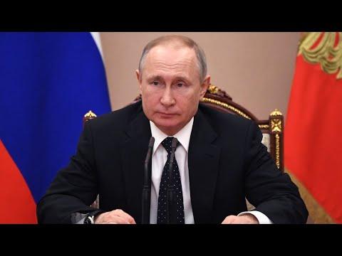 Срочное обращение Путина к россиянам из-за ситуации с коронавирусом от 25.03.2020. Полное видео