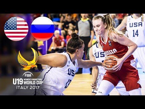 USA 🇺🇸 V Russia 🇷🇺 - Classic Full Games   FIBA Women's U19 World Cup 2017