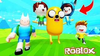 WE ENTER ADVENTURE TIME!! PARKOUR OBBY ROBLOX 💙💚💛 BABY MILO VITA AND ADRI 😍 AMIWITOS
