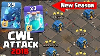 CWL Attack 2018! 9 Electro Dragon 3 Max Clone Spell Hit 3Star 3 inferno TH12 Base | Clash Of Clan