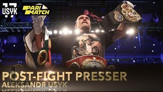 Joshua vs. Usyk | Press Conference after Fight Night