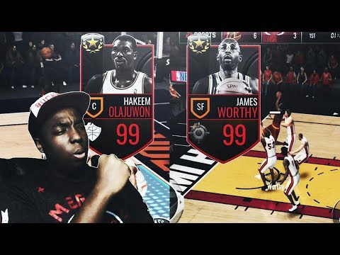 NBA LIVE MOBILE | NEW ULTIMATE LEGENDS JAMES WORTHY AND HAKEEM OLAJUWAN REVIEW/GAMEPLAY!!!