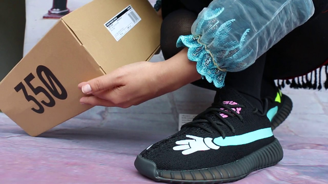 e14f2258e15 Kaws X Yeezy 350 Boost V2 On Foot Show - YouTube