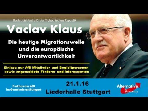 Vaclav  Klaus, 21.1.16, Liederhalle Stuttgart, AfD