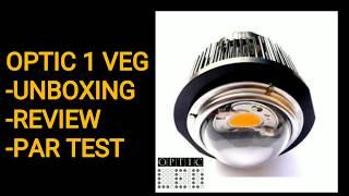 OPTIC 1 Vbox Unboxing, Athbhreithniú & PAR Tástáil. -CREE CXB3590