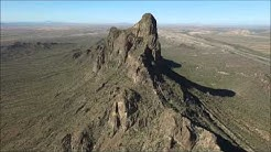 Drone video of Picacho Peak Arizona