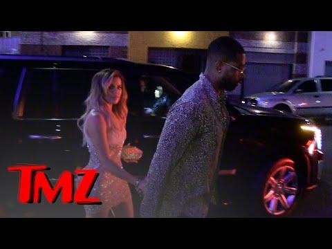 Khloe Kardashian & Tristan Thompson -- Hand in Hand at Khloe