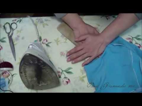 Втачивание рукава платья
