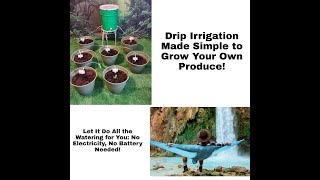Drip Irrigation Made Simple to Grow Your Own Produce: No Electricity, No Battery Needed