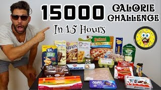 15000 Calorie Challenge in 15 Hours - Italiano Cheat Day - MAN VS FOOD - (ENG SUB)
