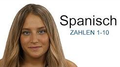 Spanisch lernen - Zahlen von 1 bis 10
