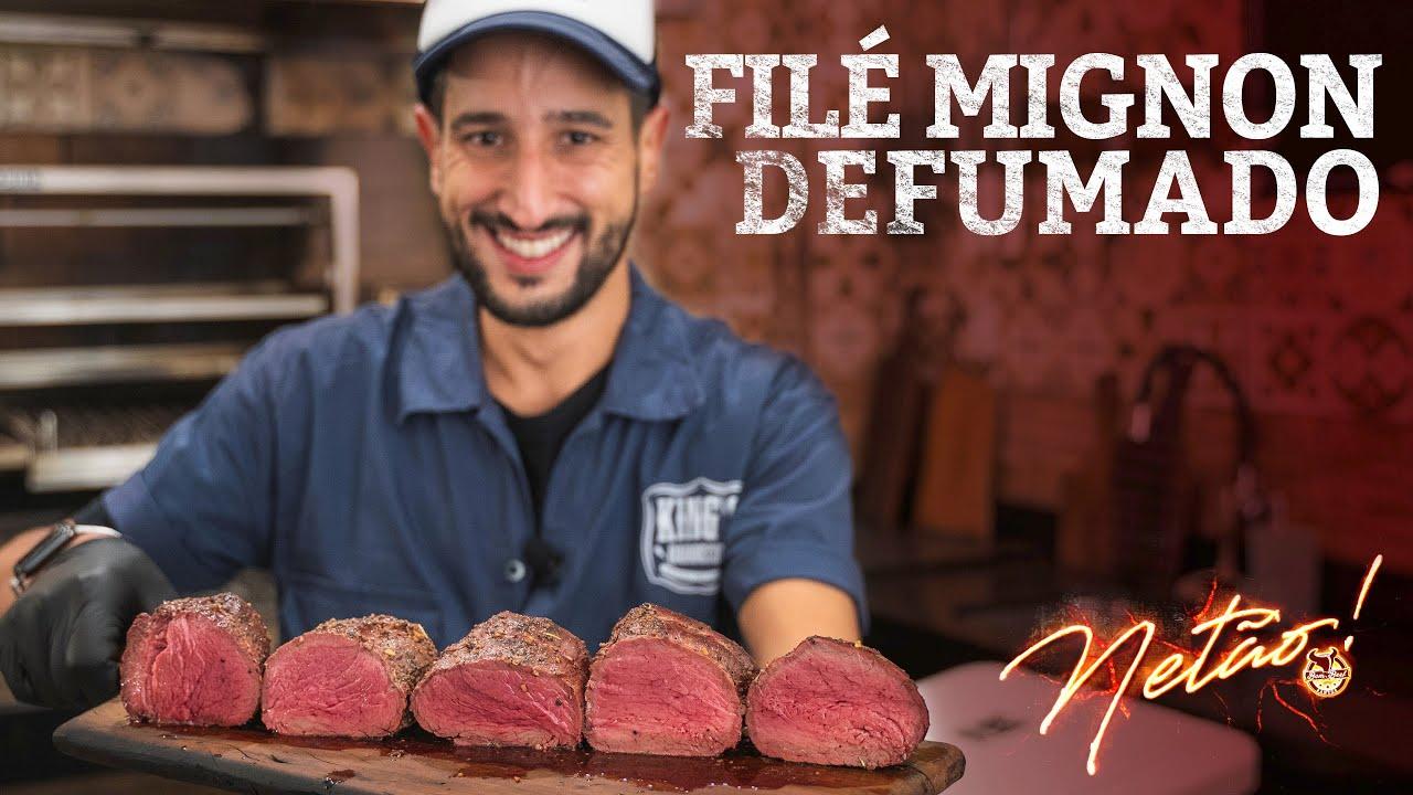 O Filé Mignon mais SABOROSO que já fiz aqui no canal! Filé Mignon Defumado! | Netão! Bom Beef #94