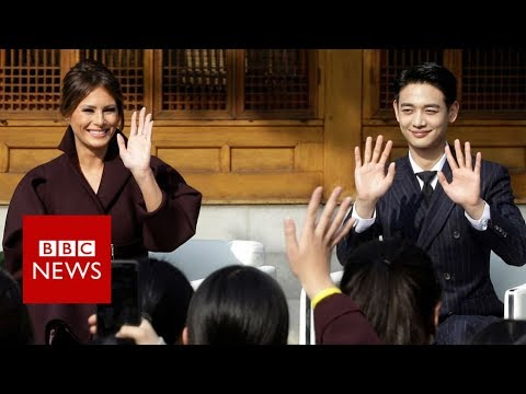 Melania 'upstaged' by Korean pop star - BBC News
