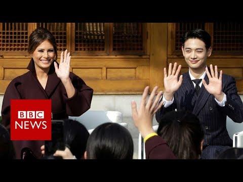 melania-'upstaged'-by-korean-pop-star---bbc-news