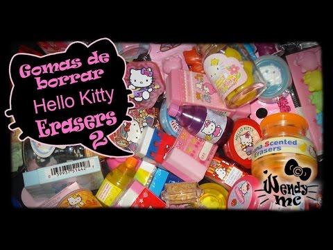 Mi colección HELLO KITTY Gomas de borrar, ERASER , borradores (2) WendyMC