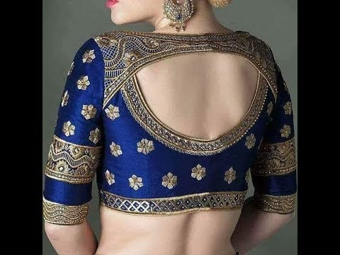 Blouse back neck designs cutting and stitching | back neck designs for blouse