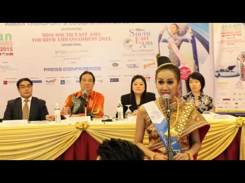 Introduction of Lao Delegate in Miss South East Asia Tourism Ambassadress 2015 Final