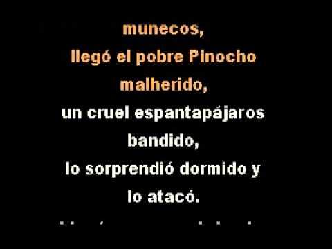 """Infantiles """"Pinocho"""" DEMO PISTA KARAOKE INSTRUMENTAL"""