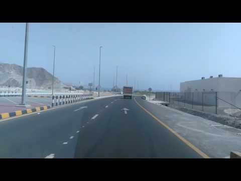 UAE tourism Fujairah dibba road beautiful tunnel ഫുജൈറ  ദിബ്ബ  റോഡിലെ ടണൽ