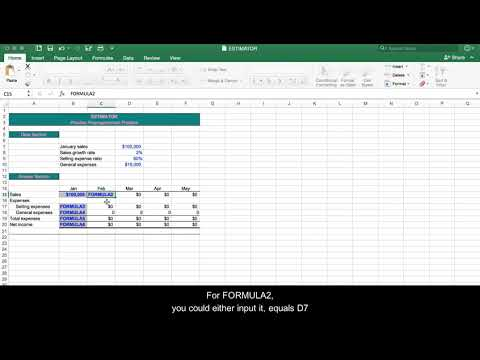 Sample Problem   Alternative to inputting formulas