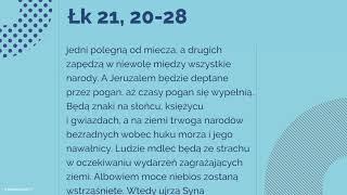 #Ewangelia | 29 listopada 2018 | (Łk 21, 20-28)