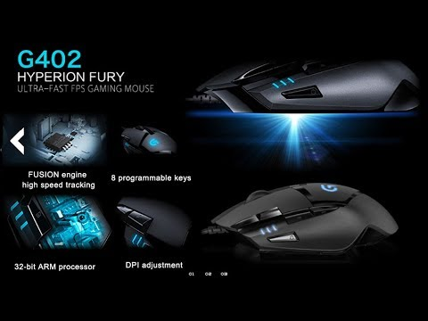 Logitech G402 Hyperion Fury | My new Ultra Fast FPS Gaming Mouse |