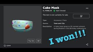 ho vinto il roblox 13esimo compleanno concorso