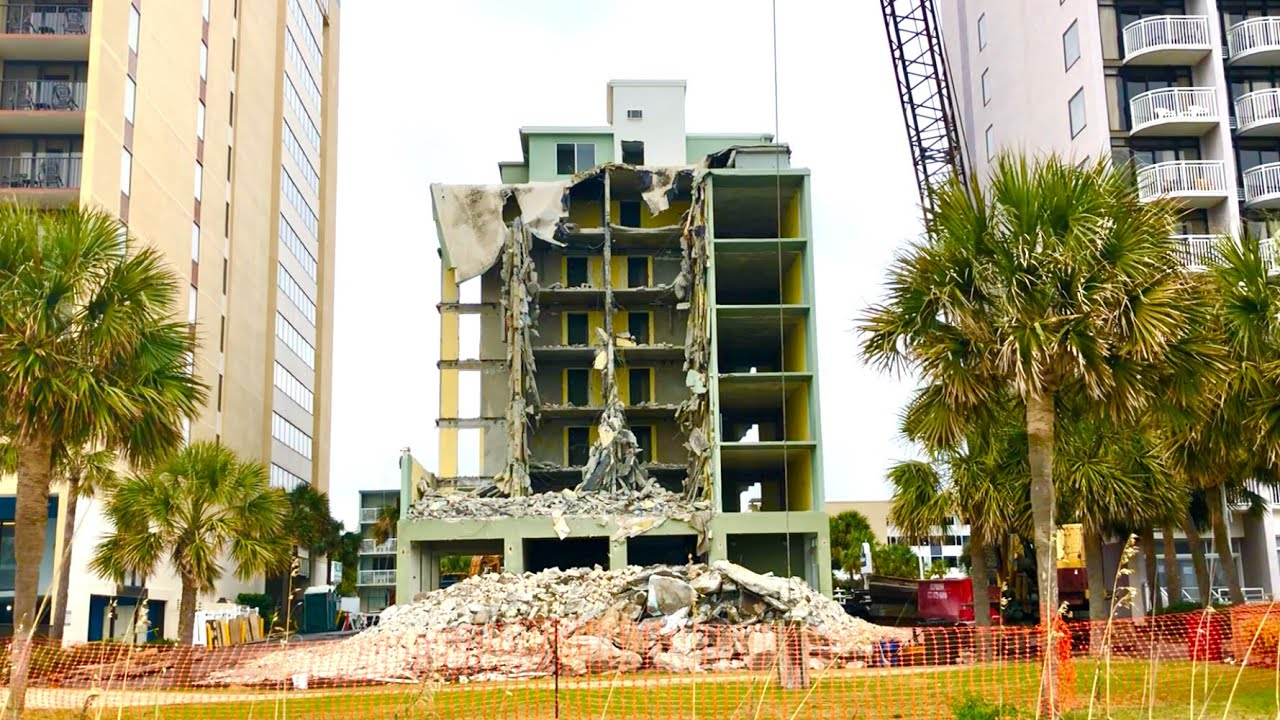 Goodbye Breakers Hotel Seaside Tower Myrtle Beach Demolition