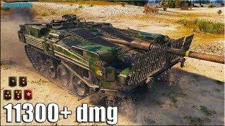 Реальная стерва 11к урона ✅ World of Tanks STRV 103B Ранговый бой