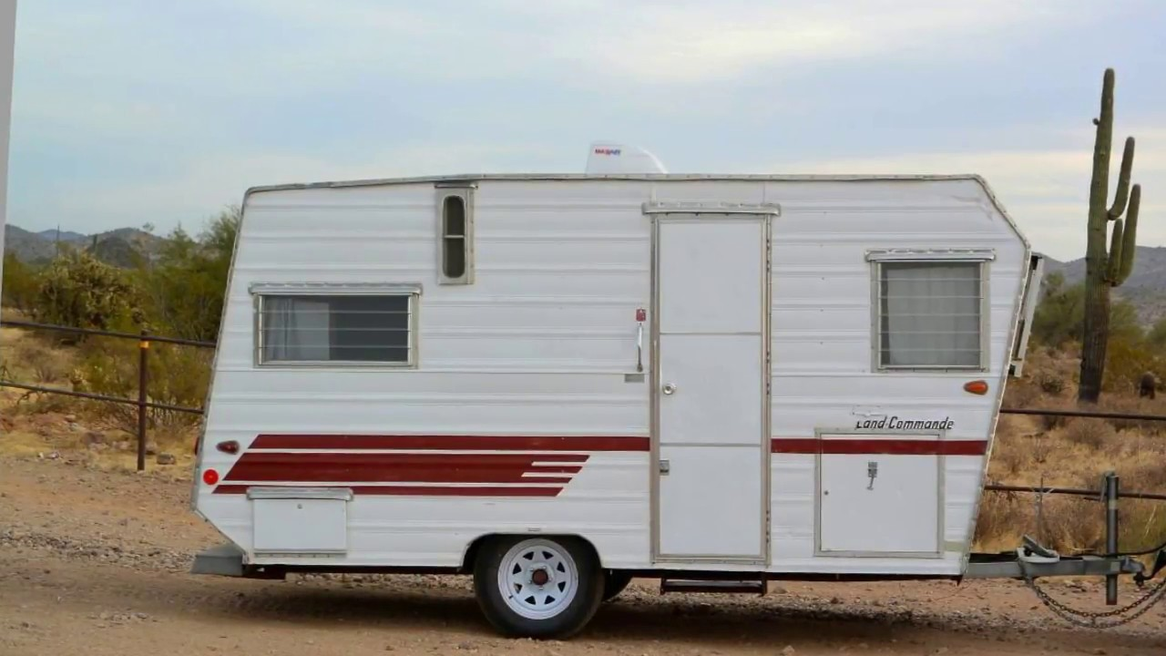 1963 Aristocrat Commander 14' Vintage Travel Trailer - YouTube